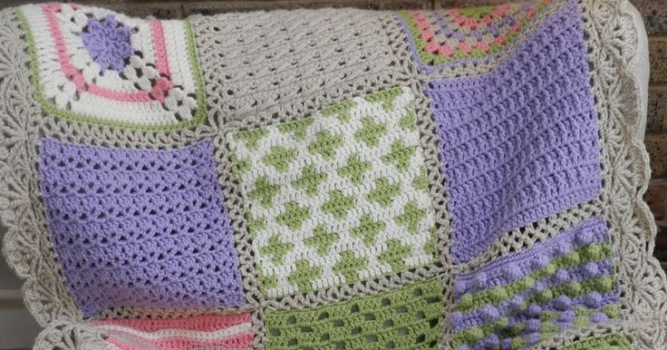 Craft Projects: Crochet Sampler Afghan - free pattern