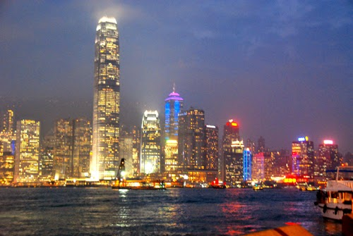 Hong Kong Island High Rises at Night china