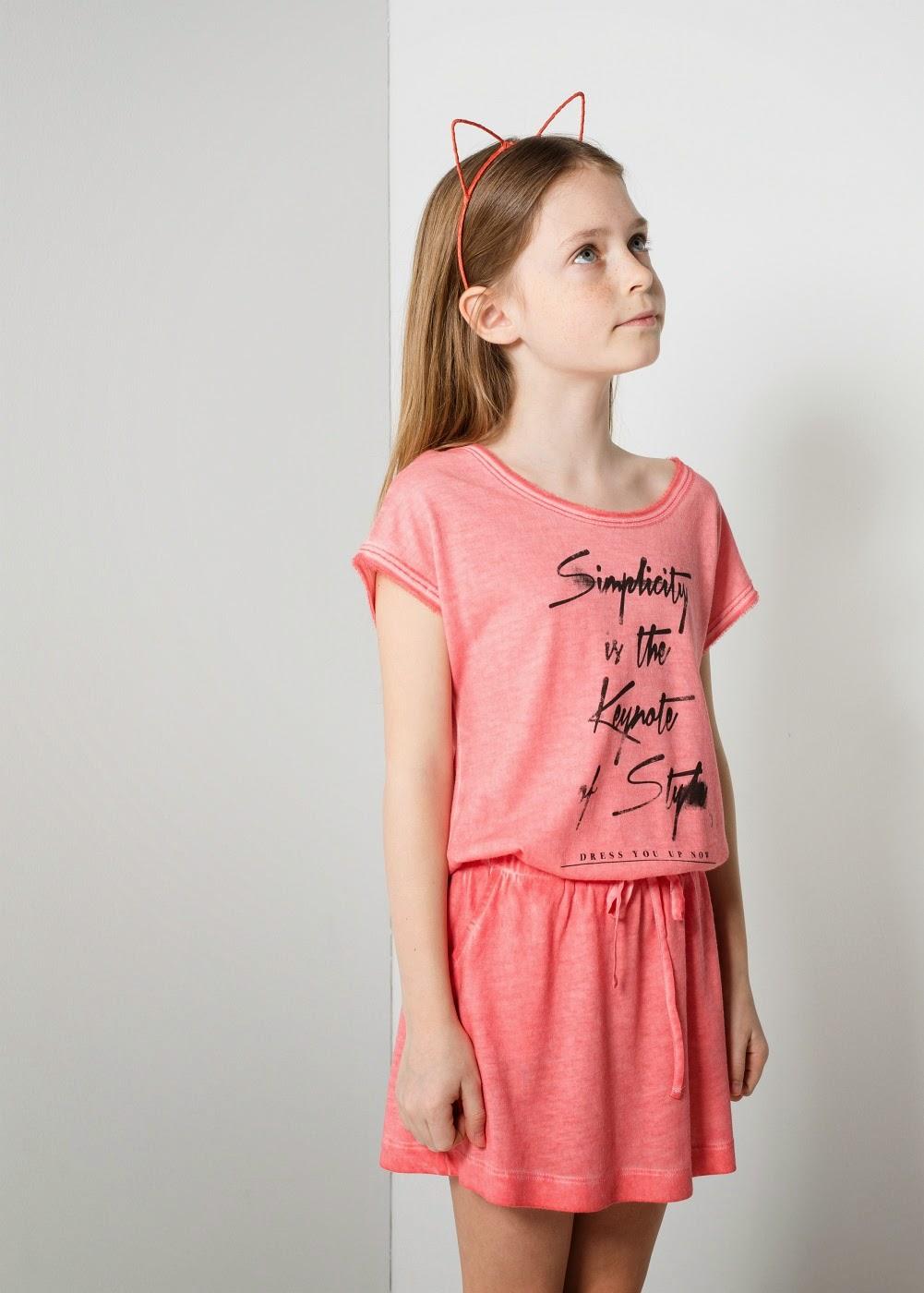 87ddb04cf56d1 Binkelam'ın Kardeşi: Mango'dan Yazlık Kız Çocuk Elbiseleri