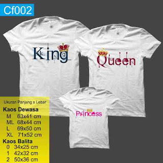 kaos keluarga King queen princess