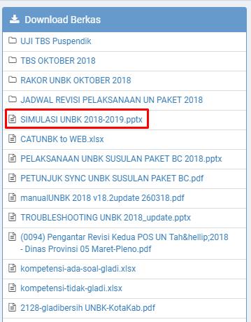 Bukti Jadwal Resmi Simulasi 2 UNBK 2018/2019 Dari Puspendik Semua Jenjang