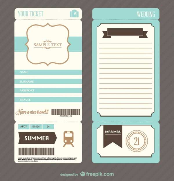 ticket-wedding-invite