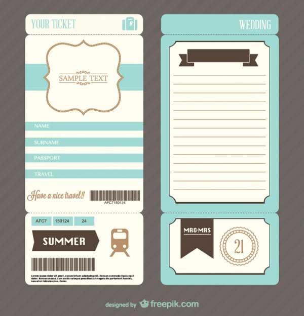 ticket-wedding-invite