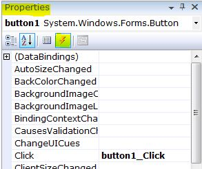 C# button events list icon