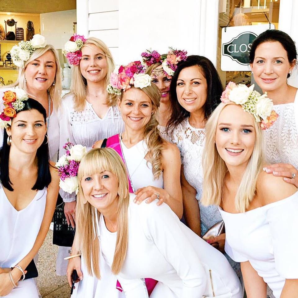 HENS PARTY FLOWER CROWN WORKSHOPS BRISBANE WEDDINGS