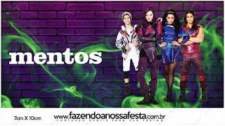 Etiquetas de Mentos de Fiesta de Descencientes para imprimir gratis.