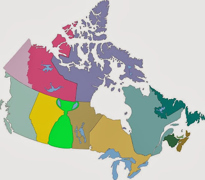 New map of Canada