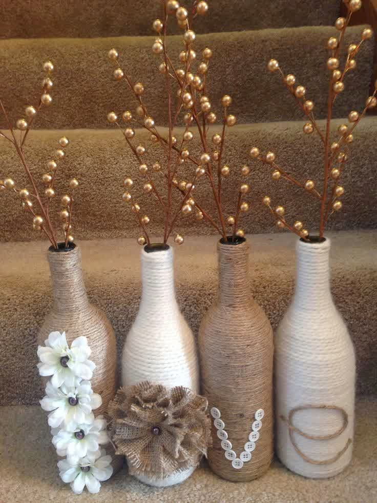 glass bottle craft as a home decor some art and craft ideas