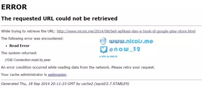 The requested URL could not be retrieved