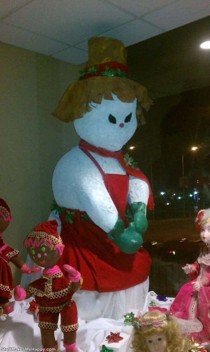 13. This snowman is clearly plotting something unkind