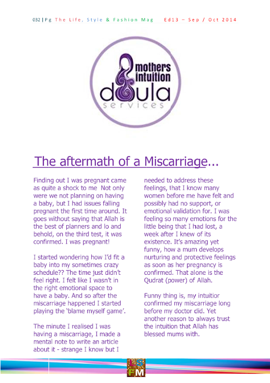 The aftermath of a Miscarriage