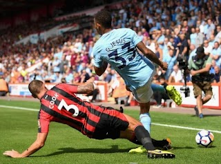 Manchester City Wins Bournemouth 2-1