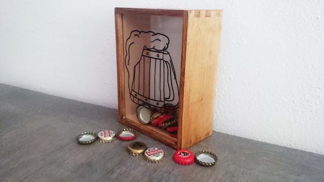 bierdoppen verzamelen DIY kast