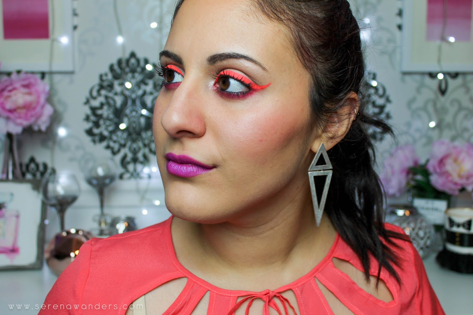Serena Wanders: Colorful NEON & FLUO Makeup Tutorial ...