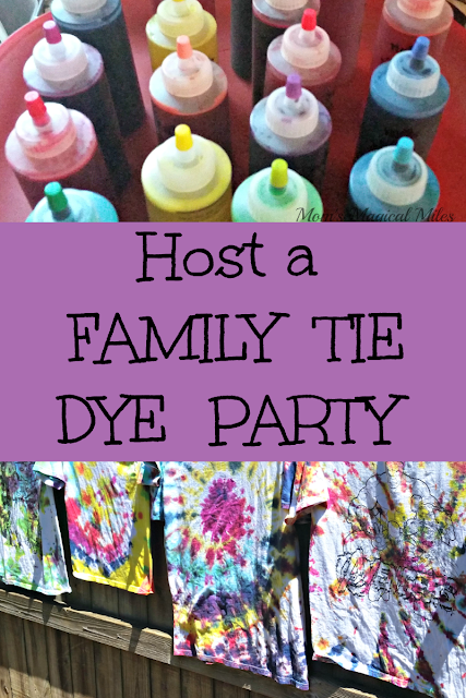 Even the youngest kids can tie dye!  It's a great family activity that produces a lasting memory.
