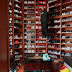 Check out DJ Khaled's shoe show room