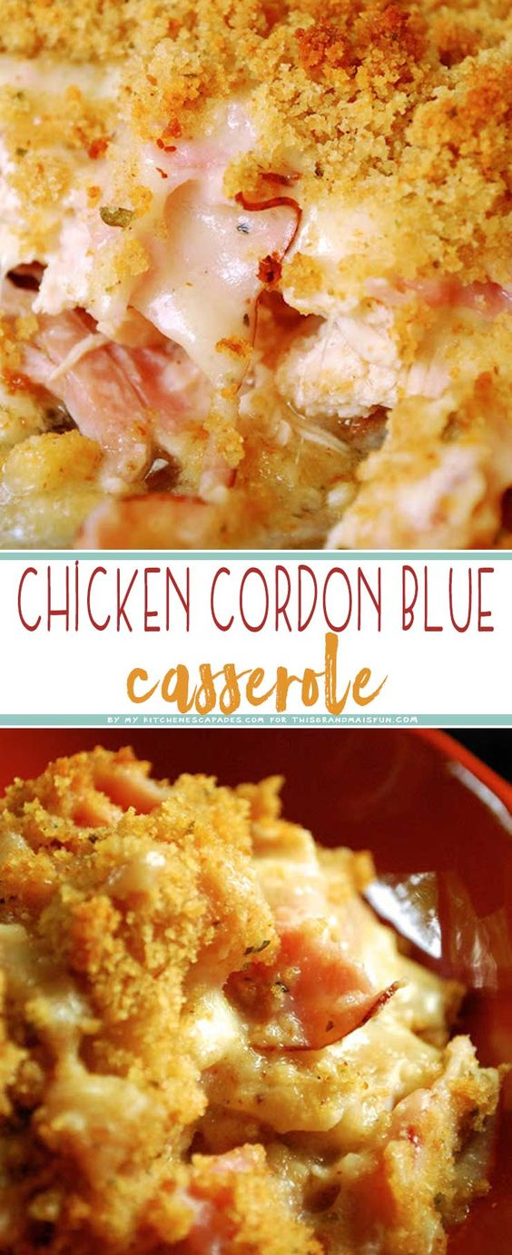 EASY CHICKEN CORDON BLEU CASSEROLE