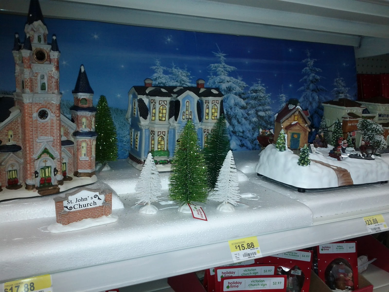 walmart getting in on christmas villages
