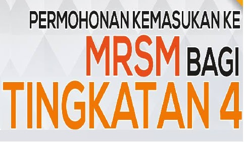 Permohonan kemasukan MRSM 2018 Tingkatan 4 Online