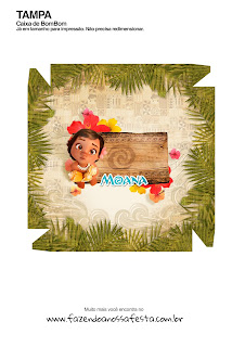 Moana Baby Free Printable Box. Cover