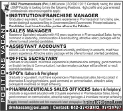 Private Limited Jobs 2019 Latest