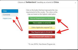 Vostingsystem von VisaMapper. Länderbezogene Übersicht der Visa Situation weltweit, hilft bei Reiseplanung und Weltreise