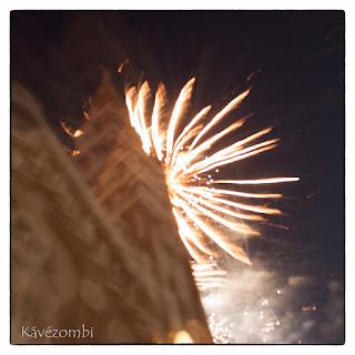 Szeged Napja tűzijáték a Dóm tornyával