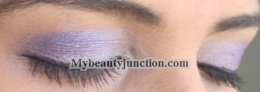 EOTD: Silvery lilac and purple smoky eye makeup look