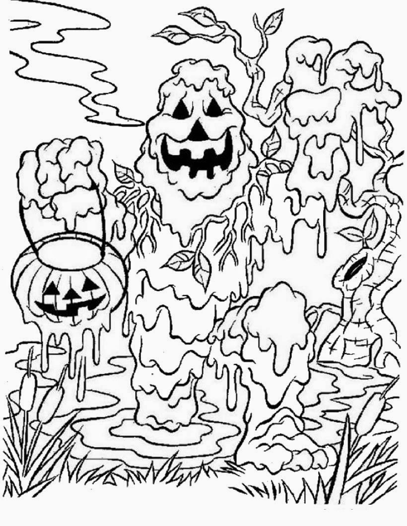 Very Scary Halloween Coloring Pages Printable