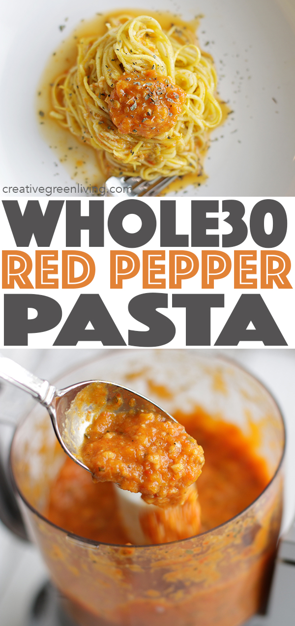 RED PEPPER PESTO WITH SQUASH NOODLES (WHOLE 30 AND GLUTEN FREE!)