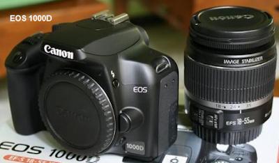 Spesifikasi dan Harga Kamera Canon Eos 1000D Tahun 2015
