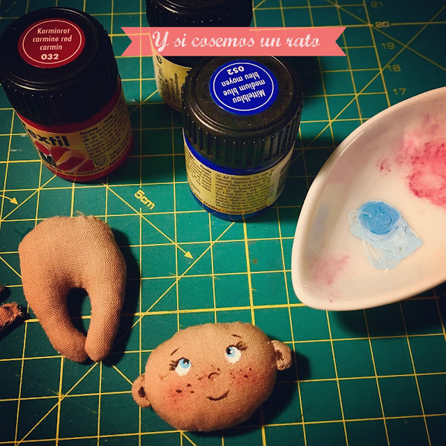 cara muñeca pintada a mano