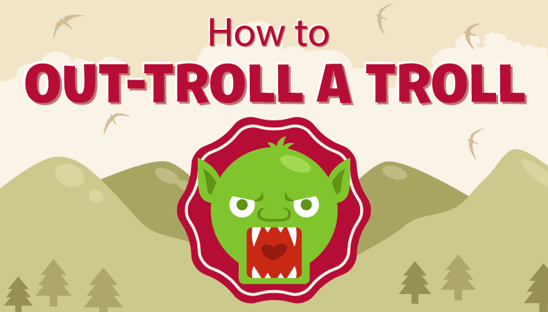 How To Deal With A Social Media Troll - infographic
