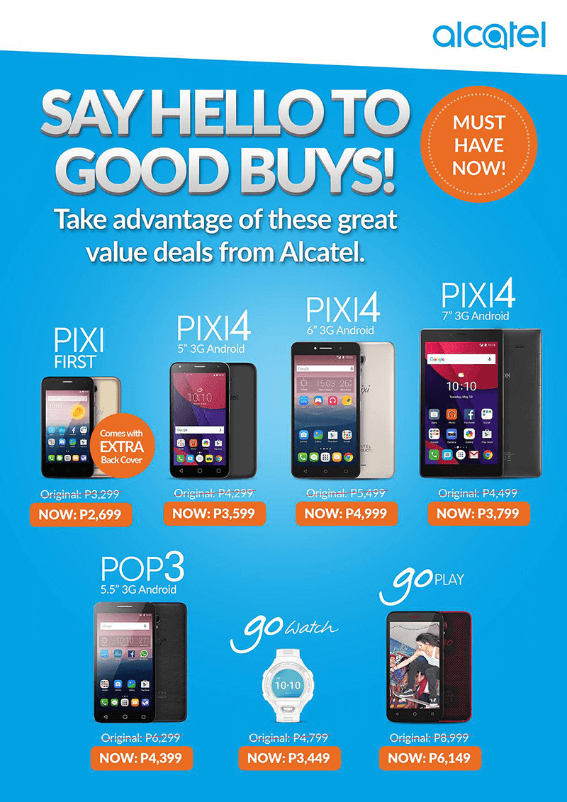 Alcatel Drops The Prices Of Several Smartphone And Gadgets!