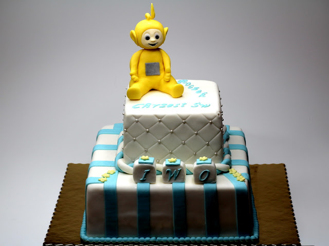 Christening Cake with Teletubbies - London Cakes