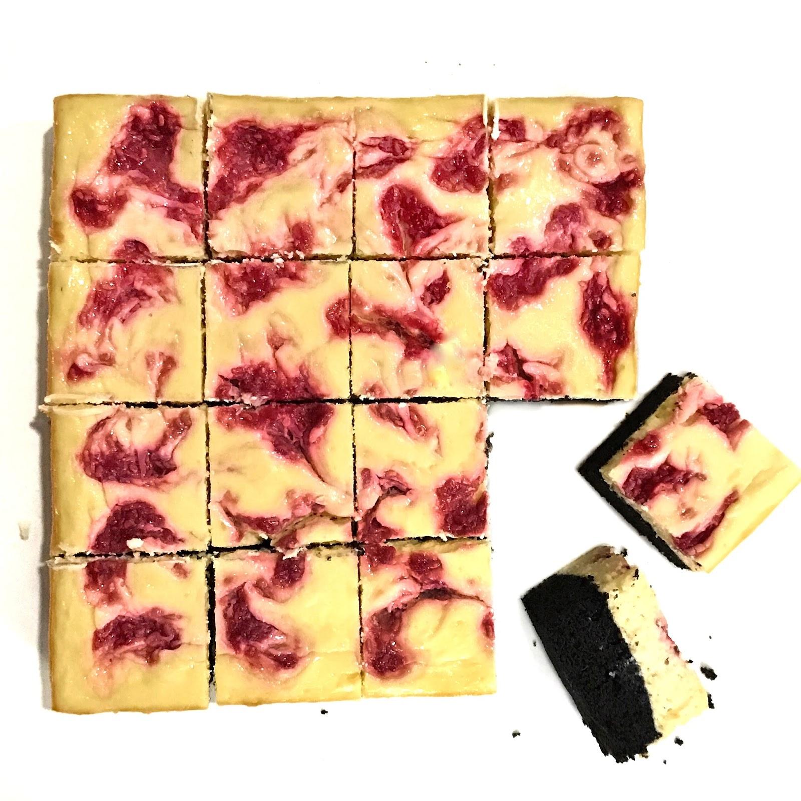 Raspberry Swirl Cheesecake Brownie
