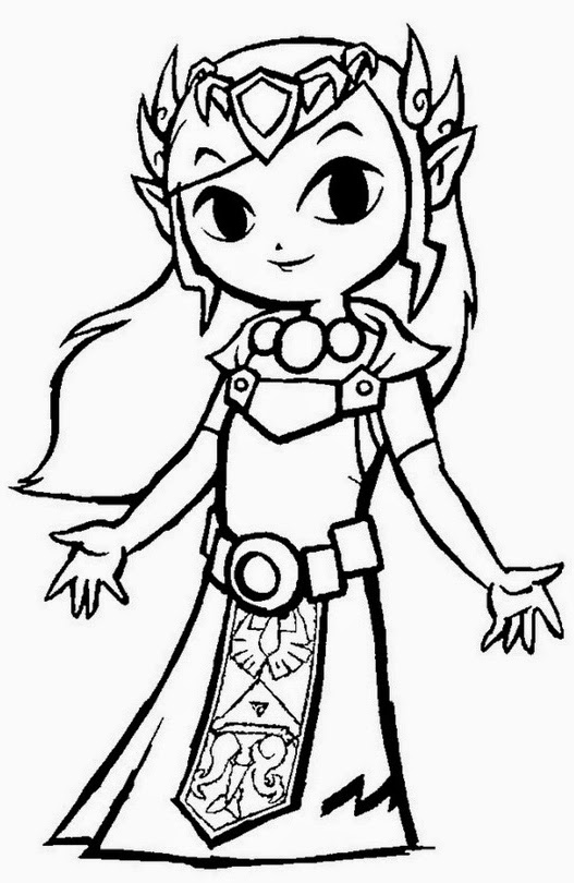 Sometimes I'm Fabulous: Link and Zelda Coloring Pages