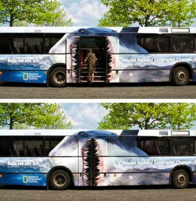 National Geographic Bus Advert Featuring Shark