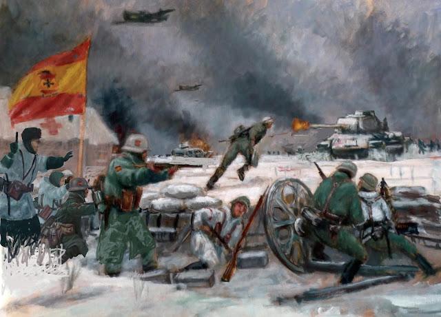 Boceto al óleo de la Batalla de Krasni-bor
