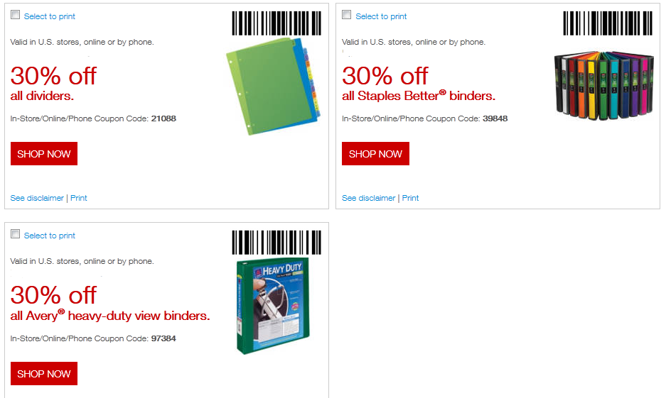 Staples Printable Coupons May 2018
