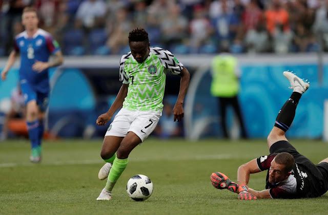 Nigeria 2 - 0 Iceland Dengan Gol Dari Ahmed Musa