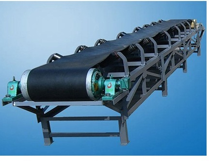 Brick making machine: Rubber belt conveyer