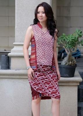 Gaun batik santai model mini dress remaja putri