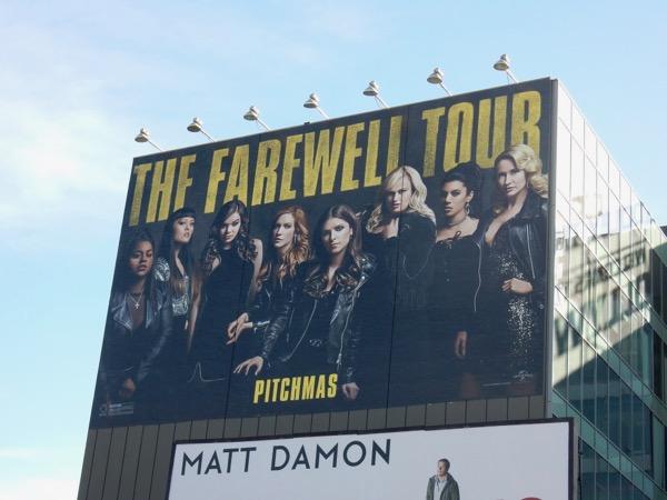 Pitch Perfect 3 Farewell Tour billboard