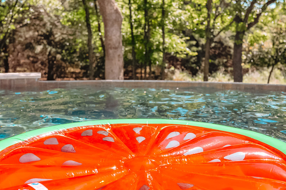 Intex Watermelon Float is perfect for floating in the pool and getting a tan