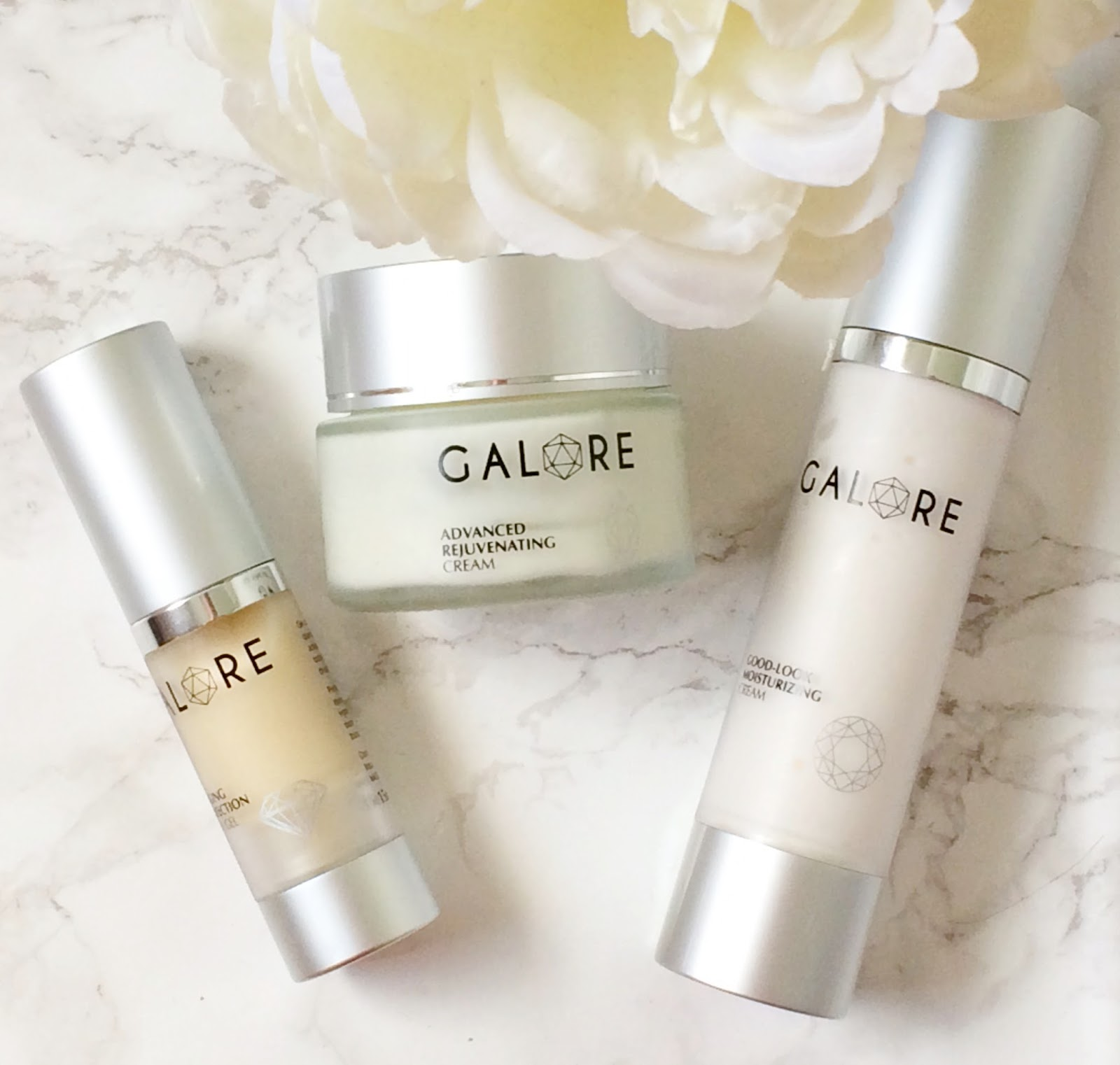 Galore Cosmetics, Advanced Rejuvenating Cream, Anti-Ageing Eye Perfection Creamy Gel, Good Look Moisturizing Cream, Review