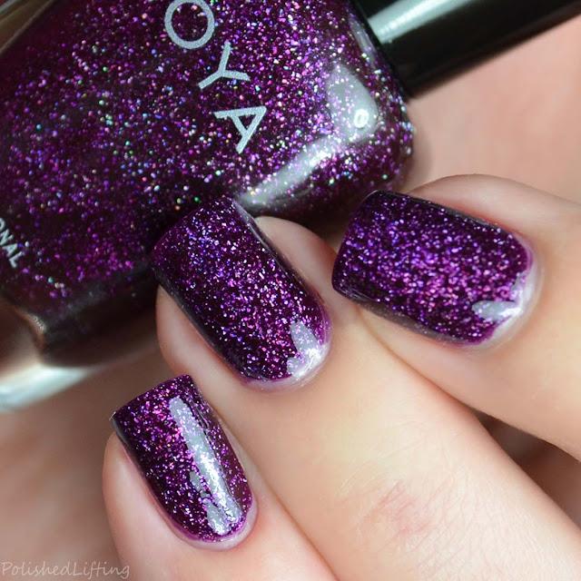 purple holographic nail polish