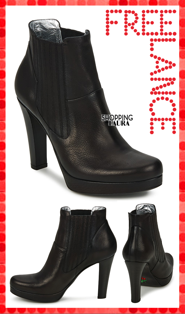 Boots noires à talons et plateau FREELANCE