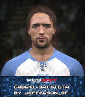 PES 2017 Faces Gabriel Batistuta by Jefferson_SF