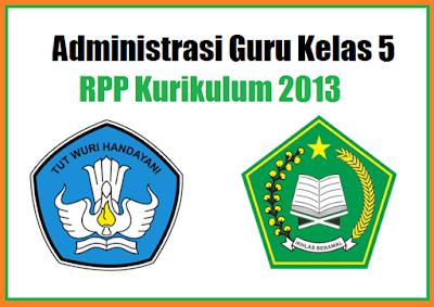 70 Administrasi Guru Kelas 5 SD/MI Kurikulum 2013